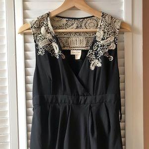 Meadow Rue Black Midi Dress Size 4